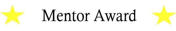 Mentor Award Banner